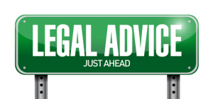 legal advice road sign illustration design over a white backgrou