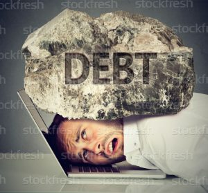 debt-on-top-of-man-300x279
